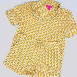 Isaac Mizrahi Sleepwear Giraffe Pajama Set